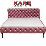 KARE Bett Desire Velvet Rose 180x200 cm