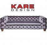 KARE Sofa Desire Silbergrau 3-Sitzer