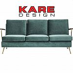 KARE Sofa Gamble Grün 3-Sitzer